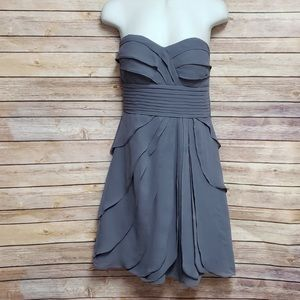 Slate Tiered Ruffled Dress
